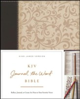 KJV Journal the Word Bible, Imitation Leather, Brown/Cream, Red Letter Edition - Slightly Imperfect