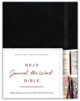 NKJV Journal the Word Bible, Large Print, Hardcover,