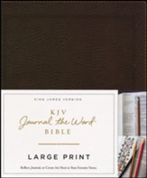 KJV Journal the Word Bible, Large Print, Bonded Leather Brown, Red Letter Edition - Imperfectly Imprinted Bibles