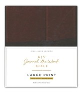 KJV Journal the Word Bible, Large Print, Premium Leather, Brown, Red Letter Edition - Slightly Imperfect