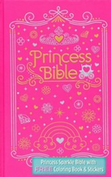 ICB Princess Bible with Coloring Sticker Book, Hardcover