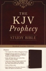 The KJV Prophecy Study Bible, Leather, bonded Burgundy