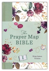 The KJV Prayer Map ® Bible [Mint  Blossoms], Paper over boards