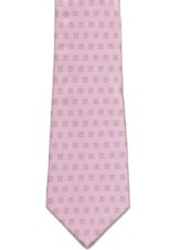 Mini Boxed Crosses, Pink Polyester Tie