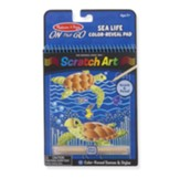Sealife Color Reveal Scratch Art Pad