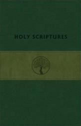 TLV Personal-Size Giant-Print Reference, Holy Scriptures--soft leather-look, grove/olive