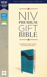 NIV, Premium Gift Bible, Leathersoft, Blue, Indexed, Comfort Print