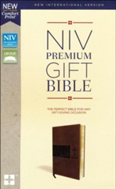 NIV, Premium Gift Bible, Leathersoft, Brown, Indexed, Comfort Print