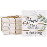 Home Is Not A Place, It's A Feeling Pallet Coasters, Set of 4