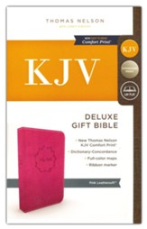 KJV, Deluxe Gift Bible, Imitation  Leather, Pink, Red Letter Edition