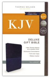 KJV, Deluxe Gift Bible, Imitation  Leather, Blue, Red Letter Edition