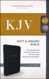 KJV, Gift and Award Bible, Imitation Leather, Black