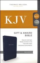 KJV, Gift and Award Bible, Imitation Leather, Blue