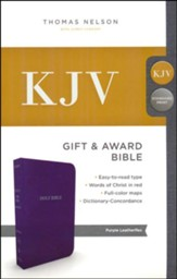 KJV, Gift and Award Bible, Imitation Leather, Purple
