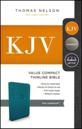 KJV, Value Thinline Bible, Compact, Imitation Leather, Teal