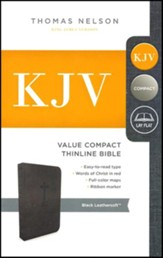 KJV, Value Thinline Bible, Compact, Imitation Leather, Black
