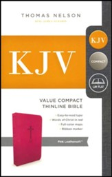 KJV, Value Thinline Bible, Compact, Imitation Leather, Pink