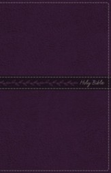 KJV, Thinline Bible, Standard Print, Imitation Leather, Purple, Red Letter Edition