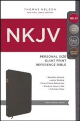 NKJV Personal Size Giant Print Reference Bible, Black