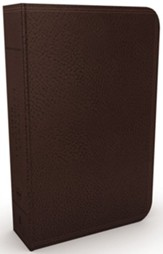 NKJV Vines Expository Bible--imitation leather, brown