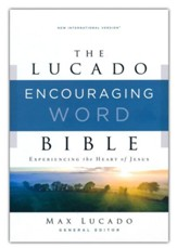 NIV Lucado Encouraging Word Bible, Comfort Print, Leathersoft, Blue