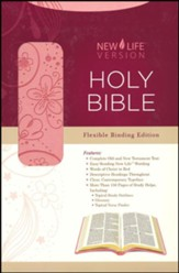 NLV Holy Bible; Pink, Imitation Leather