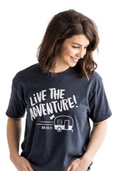 Live the Adventure Shirt, Blue, Small