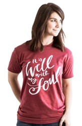 It Is Well With My Soul Shirt, Red, Large