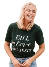 Fall In Love Shirt, Dark Green, XX-Large
