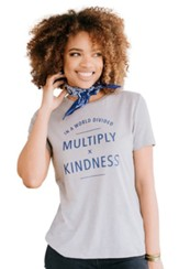 Multiply Kindness Shirt, Grey, Large