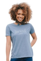 Be Kind Shirt, Blue Heather, XX-Large