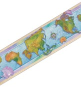World Maps Straight Border Trim