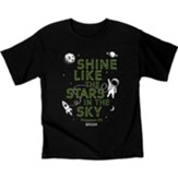 Shine Astronaut Shirt, Black, Youth Medium
