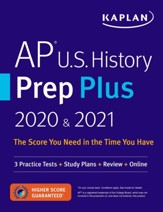 AP U.S. History Prep Plus 2020 &  2021: 3 Practice Tests + Study Plans + Targeted Review & Practice + Online - eBook
