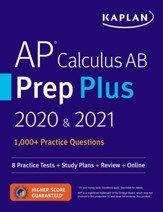 AP Calculus AB Prep Plus 2020 &  2021: 8 Practice Tests + Study Plans + Targeted Review & Practice + Online - eBook