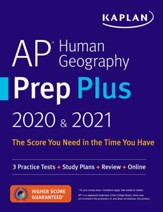 AP Human Geography Prep Plus 2020 &  2021: 3 Practice Tests + Study Plans + Targeted Review & Practice + Online - eBook