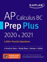 AP Calculus BC Prep Plus 2020 &  2021: 6 Practice Tests + Study Plans + Targeted Review & Practice + Online - eBook