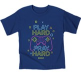 Play Hard Gamer Shirt, Royal, Youth Small