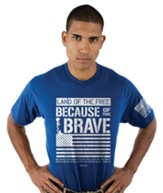 Because Of The Brave Shirt, Royal Blue, XX-Large