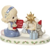 Happy Birthday Jesus Girl With Nativity Figurine