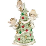 Gloria In Excelsis Deo, Angels Decorating Christmas Tree Figurine