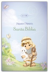 Santa Biblia Precious Moments NVI, Aqua (Teal, Leathersoft) - Slightly Imperfect