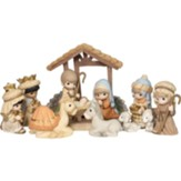 Precious Moments, O Come Let Us Adore Him Nativity, 11 Pieces