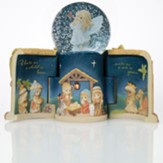 Come Let Us Adore Him Nativity LED Snow Globe