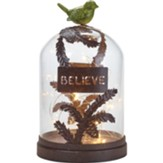Believe LED Terrarium, With Bird