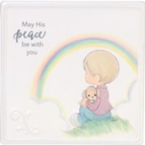 May His Peace Be With You, Boy With Rainbow Plaque