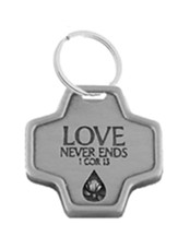 Memorial Tear Pewter Pocket Cross