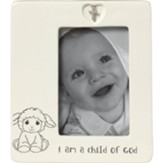 I Am A Child of God, Baptism, Photo Frame With Charm