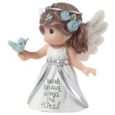 With Brave Wings She Flies Angel Figurine