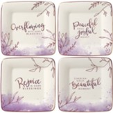 Peaceful Moments Dessert Plates, Set of 4